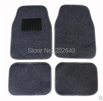 FM001 autopõrandamatid PVC-ga veekindla libisemisvastase vaibaga mustad / hallid 66 * 45cm pedaalidega vaibad kleepuv padi silikageeli jaoks