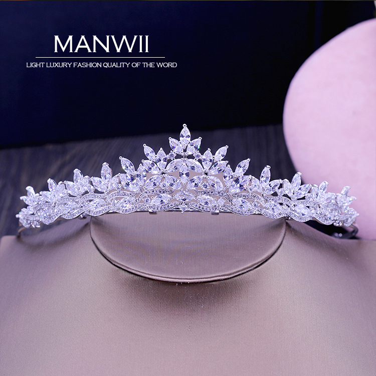 New luxury Hao Shi bride crown crown decorated wedding dress accessories wedding hair ornaments women hair accessories HA20097 ...