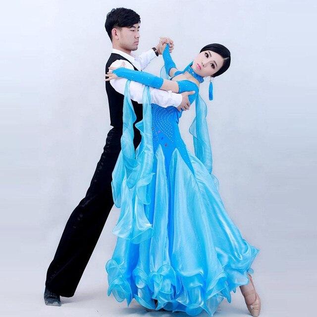7133fa30bba3 4 colours woman big swing flower standard Ballroom Dance Costume Dress  short sleeves sequins waltz/