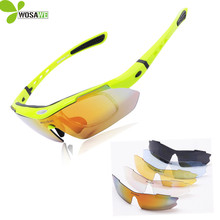 WOLFBIKE Men's Cycling Glasses Eyewear Polarized Summer UV400 protection Outdoor Sports