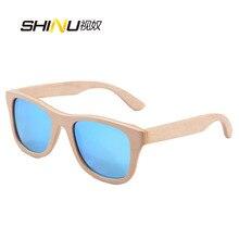 Hielo Azul Lente Skateboard Madera Gafas de Sol de Las Mujeres gafas de Sol 7 Capa Natural Sombra Capa de Espejo Gafas De Sol Mujer