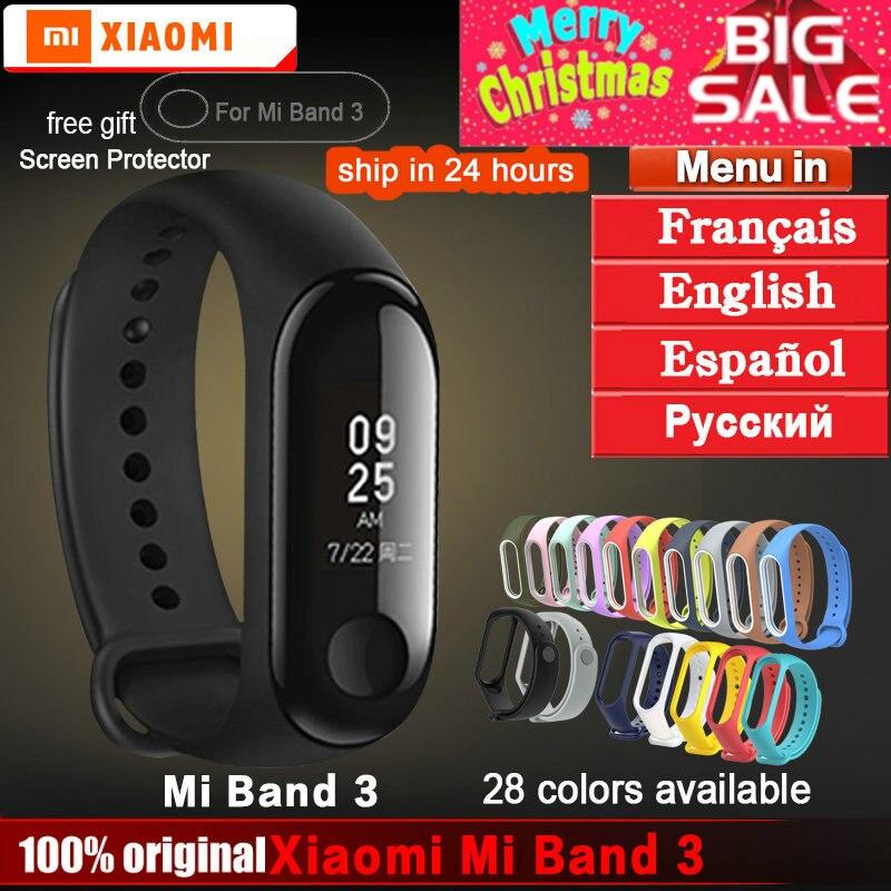 Original xiaomi mi banda 3 pulsera mi banda 2 3 rastreador de Fitness pulsera inteligente pulso Monitor Android