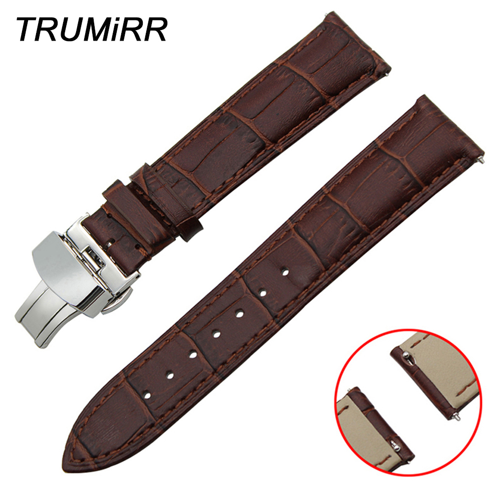 Watchbands Watch Accessories Quick Release Watch Band 1st Layer Genuine Leather Strap For Montblanc Men Women Butterfly Buckle Wrist Bracelet 18mm 20mm 22mm Discounts Sale