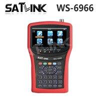 Оригинал Satlink WS 6966 сатфайндер метр MPEG4 DVB S2 измерительный прибор с поиском спутникового сигнала WS6966 HD спутникового сигнала Finder Бесплатная до