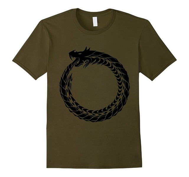 Ouroboros T Shirt Snake Eating Tail Ancient Symbol Tee Newest 2017