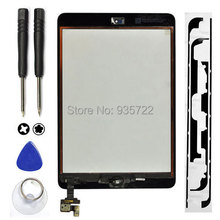 No Dead pixels! Touch Screen Glass Digitizer+ IC Chip Replacement+Home Button For iPad Mini 1/2 with tools Black