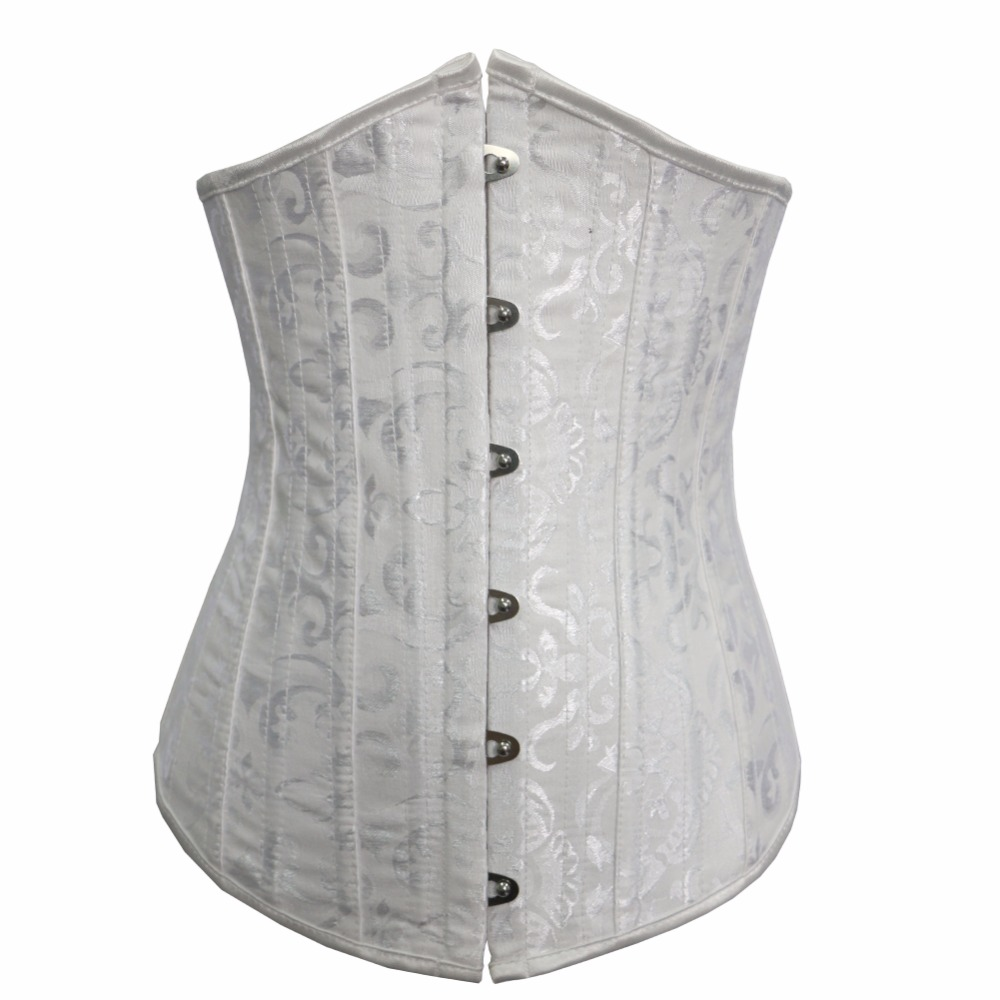 jacquard 26 boned   corset   under bust   corsets   and   bustiers   tight lacing   corset   plus size S-6XL QF2834