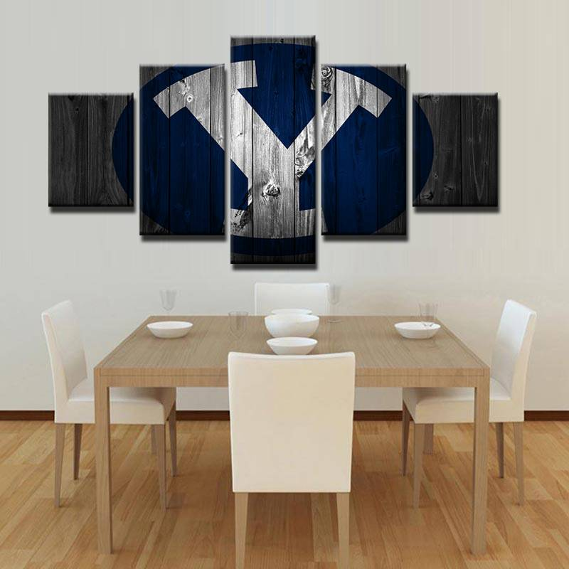 Painting On Canvas Modern Print Liveing Room Fashion Wall Art 5 Panel Sports Letter Rugby Picture Home Decor Poster Frame