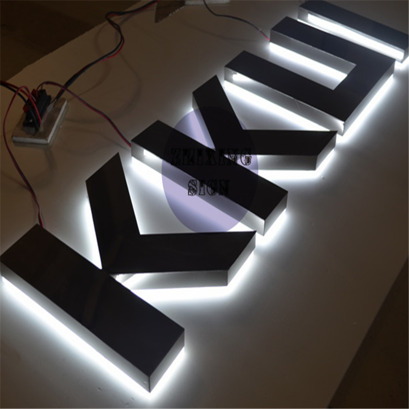Factory Outlet White Lighted Signs,  Stainless Steel Signs With White Lighting