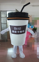 Кофейная чашка костюм талисман для взрослых мультфильм ходить косплей пользовательских одежда праздник специальная одежда для Хэллоуина