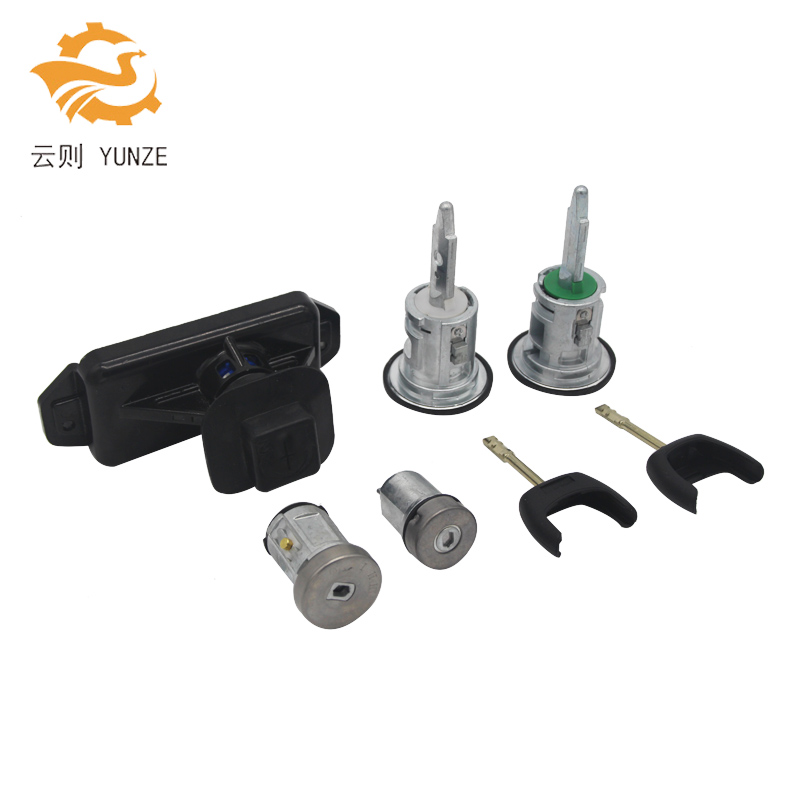 6C1AV22050XB 5PCS COMPLETE LOCK SET IGNITION SWITCH FRONT LEFT RIGHT DOOR LOCK FUEL BARREL FOR FORD TRANSIT MK7 2006-2014 car electric window toggle switch front for ford transit mk6 2000 2006