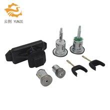 6C1AV22050XB 5 шт. полный набор блокировки зажигания передний левый и правый замок топлива баррель для FORD TRANSIT MK7 2006 -2014