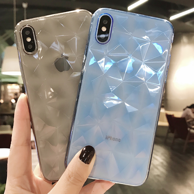 Silicone 3D Diamond Case For Huawei Y5 Y7 P30 P20 Mate 20 Lite P Smart Plus 2019 On Honor 10i 20 Pro 8X 8C 8A Soft TPU Cover