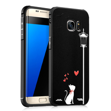 For Samsung Galaxy S6 Case 3D Relief Cartoon Painted Soft TPU Protective Cover Case For Samsung Galaxy S7 Phone Cases Shockproof