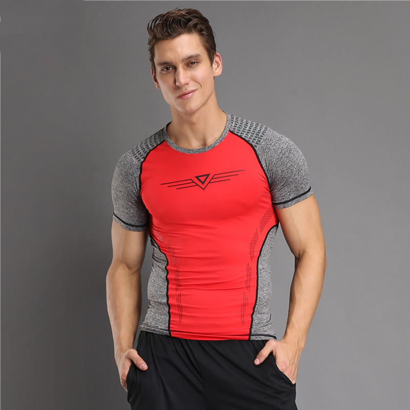 Sport Running T Shirt Men T-shirt Compression Tights Sport Dry Fit Short Sleeve Sportswear Gym Fitness Shirt Men Survetement