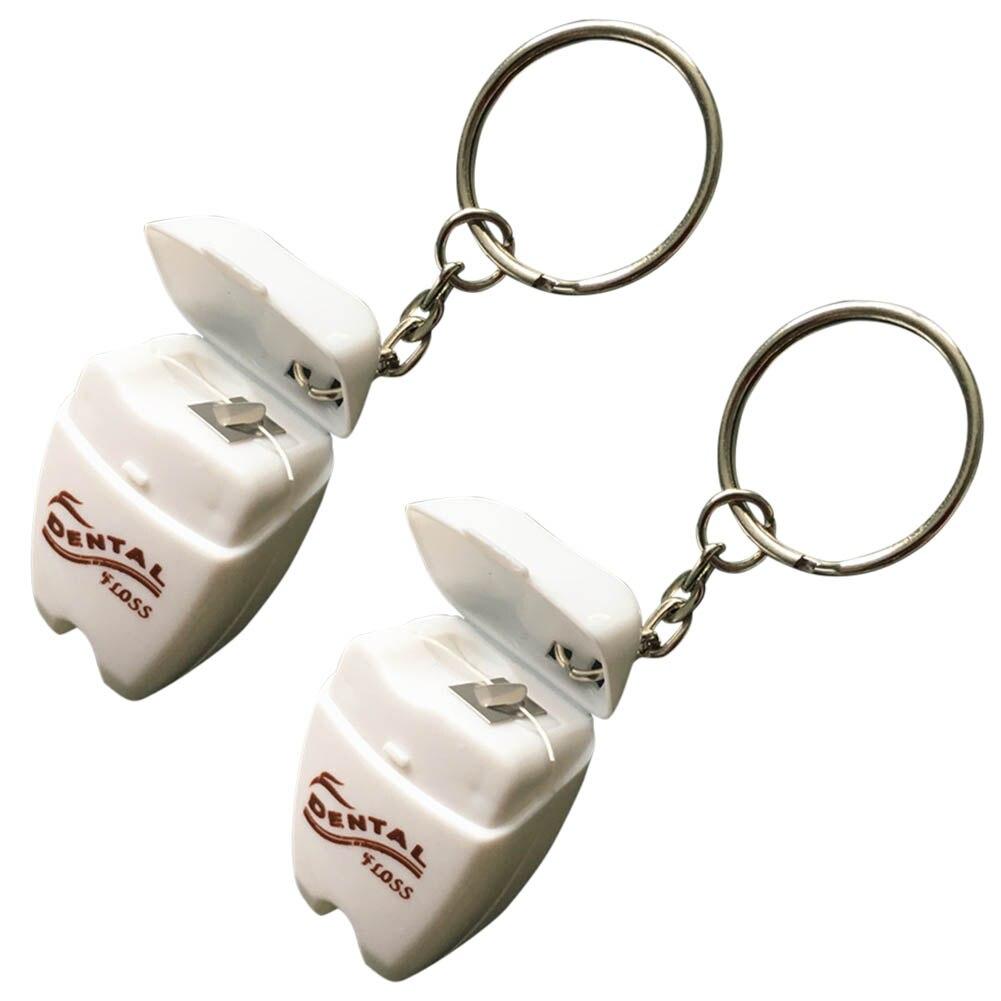 Schönheit & Gesundheit RüCksichtsvoll 2 Box/set Dental Flosser Box 15 Mt Tragbare Zähne Reinigung Zahnseide Mit Schlüssel Ring Interdentalbürste Flosser String Oral Mini Hb Mundhygiene
