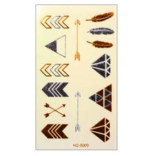 HC5009-Taty Design Flash Tattoo Removable Waterproof Gold Tattoo Metallic Temporary Tattoo Stickers Temporary Body Art Tatoo