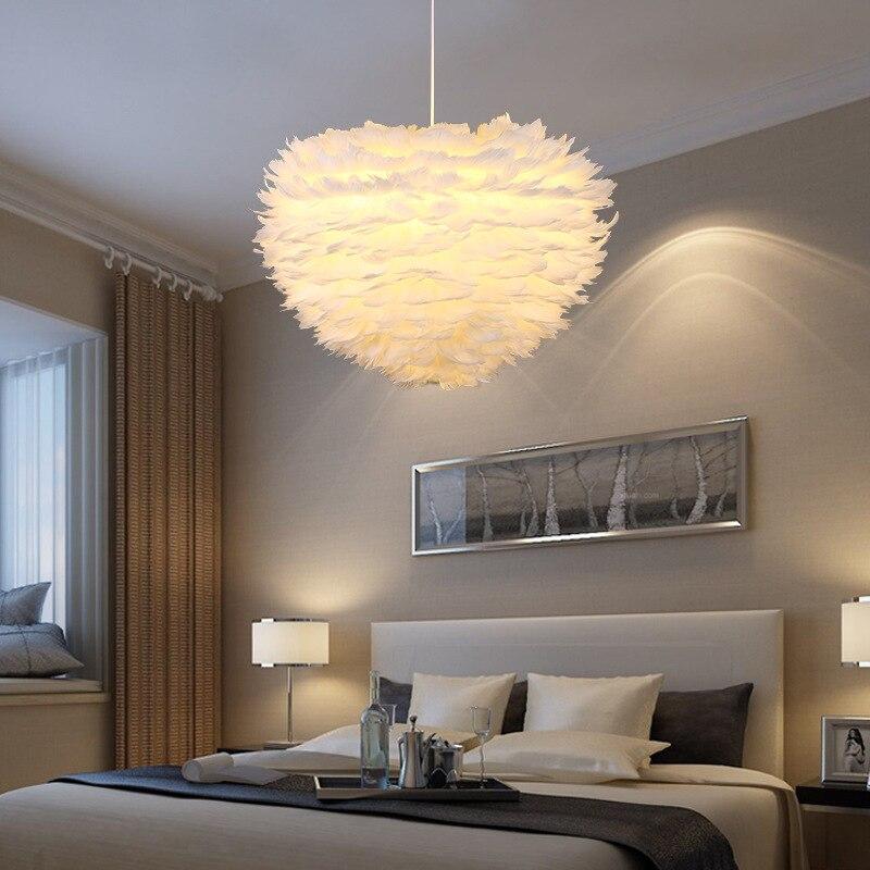 Modern Feather Pendant Light Contemporary Italian Design Goose Feather Hanging Pendant Lamp Fancy Home Lights Villa Restaurant (32)