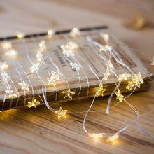 4 м 40LED звезда серебряная проволока гирлянды 3 AA батарея работает сказочные гирлянды для праздника праздничное украшение для вечеринки, свадьбы
