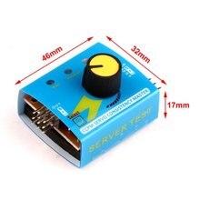 5 uds Servo Tester de prueba CCPM consistencia maestro Checker 3CH 4,8 6V con indicador de luz