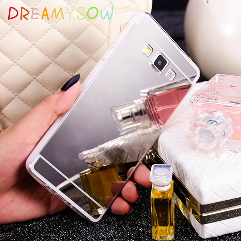 Shinning Mirror Soft Case For samsung galaxy A5 A7 / J5 J7 / A310F A510F A710F 2016 Phone Cover In Gold Silver and Rose Cover