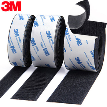 12M/pair Strong Self adhesive Hook and Loop Fastener Tape nylon sticker velcros adhesive with 3M Glue for DIY 20/25/30/38/50mm