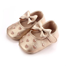 New fashion embroidered peach heart bow wear-resistant baby shoes high quality waterproof baby shoes anti-skid step shoes