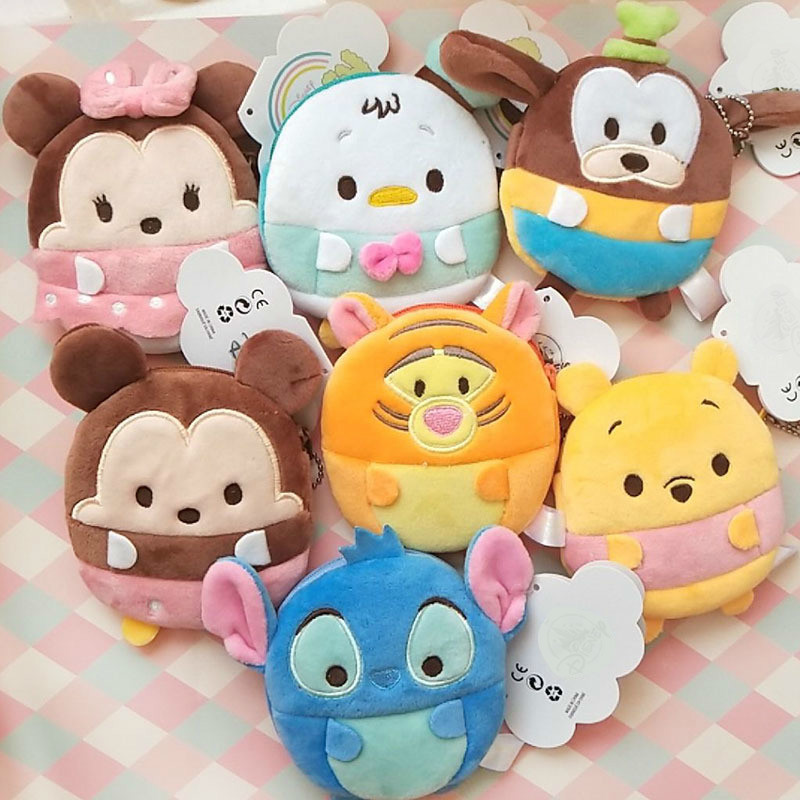 Japanese Cartoon Plush Toys Short Ufufy Coin Purse Toys Stuffed Plush Dolls For Christmas Birthday Gift TSUM Wholesale