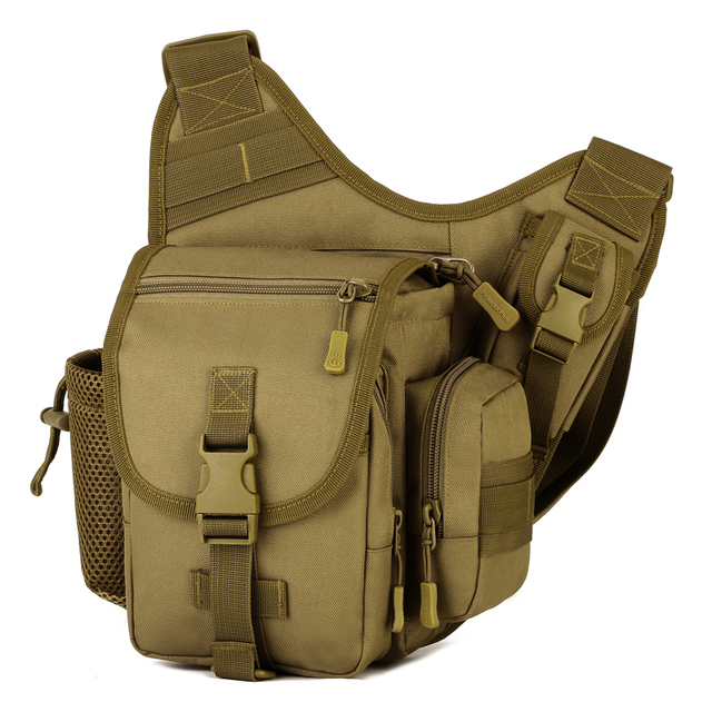 ee027d928b Waterproof Nylon Camo Military Saddle Bag Men Tactical Cross-body Shoulder  Bag Hunting Hiking Climbing