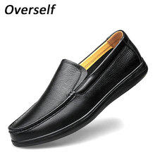 New Handmade Men Loafers Gentleman Luxury Fashion men's dress shoes High Quality Genuine mens Shoes Leather Soft Moccasins