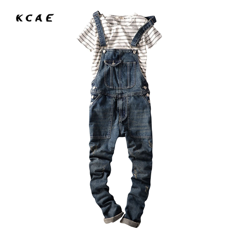 2016 Spring Autumn Fashion mens slim jeans overalls Casual bib jeans for men Male Ripped denim jumpsuit Suspenders Bibs  2016 spring autumn fashion brand mens slim jeane overalls casual bib jeans for men male ripped denim jumpsuit