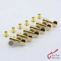 Genuine Original 6 In Line G GOTOH SG381 07 MGT Guitar Locking Machine Heads Tuners Gold