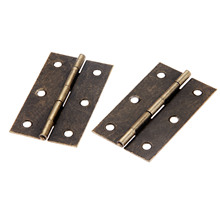 2Pcs 75x42mm Antique Cabinet Furniture Door Hinge Jewelry Wood Boxes 6 Holes Decorative Hinges Furniture Hardware with Screws 30 20mm 10pc kimxin in stock zinc alloy hinge hinges for jewelry boxes jewelry and gif box hardware metal hinges w screws w 094