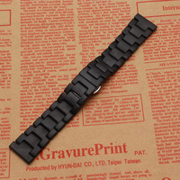 2017 Promotion New replace 22mm Watch Band Ceramic watch Strap for Samsung Gear S3 Classic Butterfly Buckle watchbands matte new
