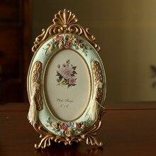 Vintage Europa marco de fotos rosa de resina marco de fotos Mesa ElimElim