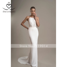 Swanskirt Wedding Dress 2019 sheath vestido de noiva Noble
