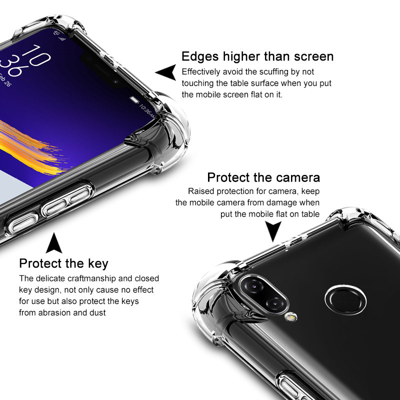 IMAK Matte TPU Case for ASUS Zenfone 5 ZE620KL Skin Feel TPU Soft Phone Case + Screen Protector for Asus ZenFone 5z ZS620KL