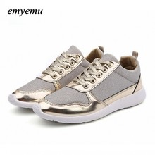 3colors New Fashion Brand Casual shoes for women flat shoes gold black white shoes plus size 36-41