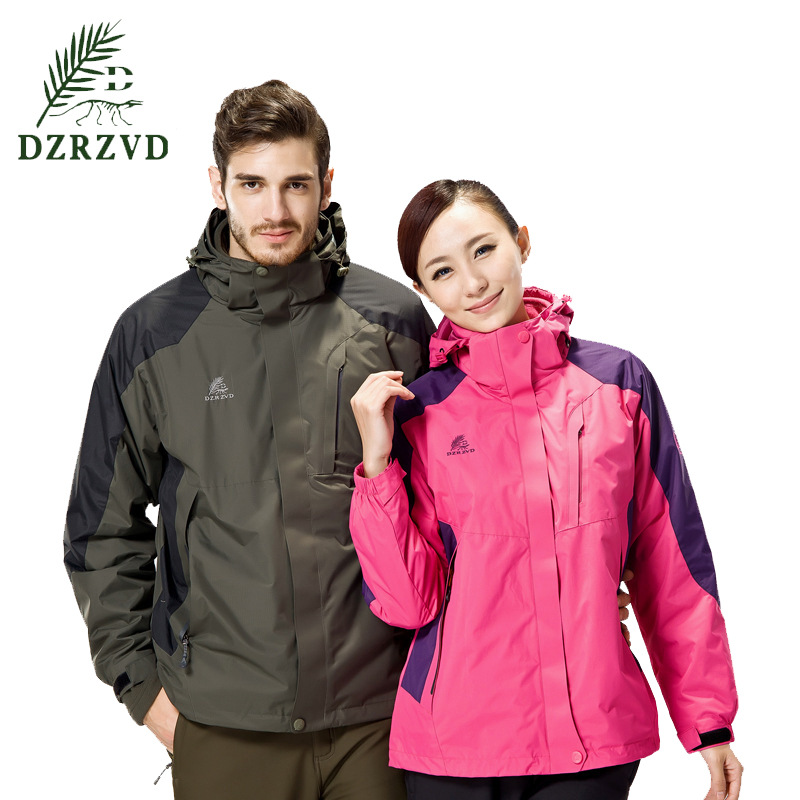 High Quality Outdoor 3 in 1 Jacket Men Women Mountaineering Climbing Camping Hiking Hunting Clothes Waterproof Thermal Ski Suit jacket waterproof women mountaineering jacket waterproof clothing windbreaker outdoor climbing hiking jacket for women