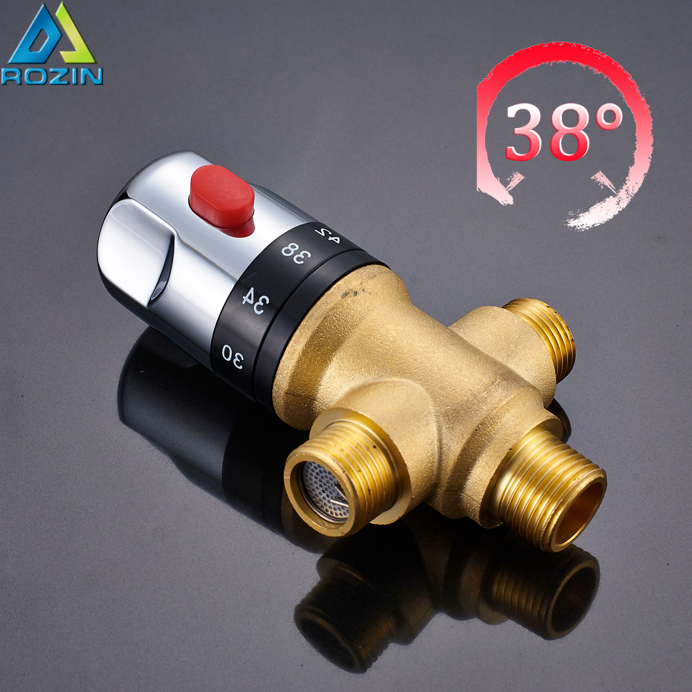 Free Shipping Thermostatic Mixing Valve Shower Contral Valve Water Temperature Control Valve 1/2