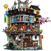 4932pcs diy Ninjagoed figures Series The Warrior City Set Building Kits Blocks Bricks Toys For children gifts Legoingly 70620