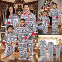 New Year Family Christmas Pajamas Family Matching Outfit Clothing Sets Family Pyjamas Kids Clothes Set Family