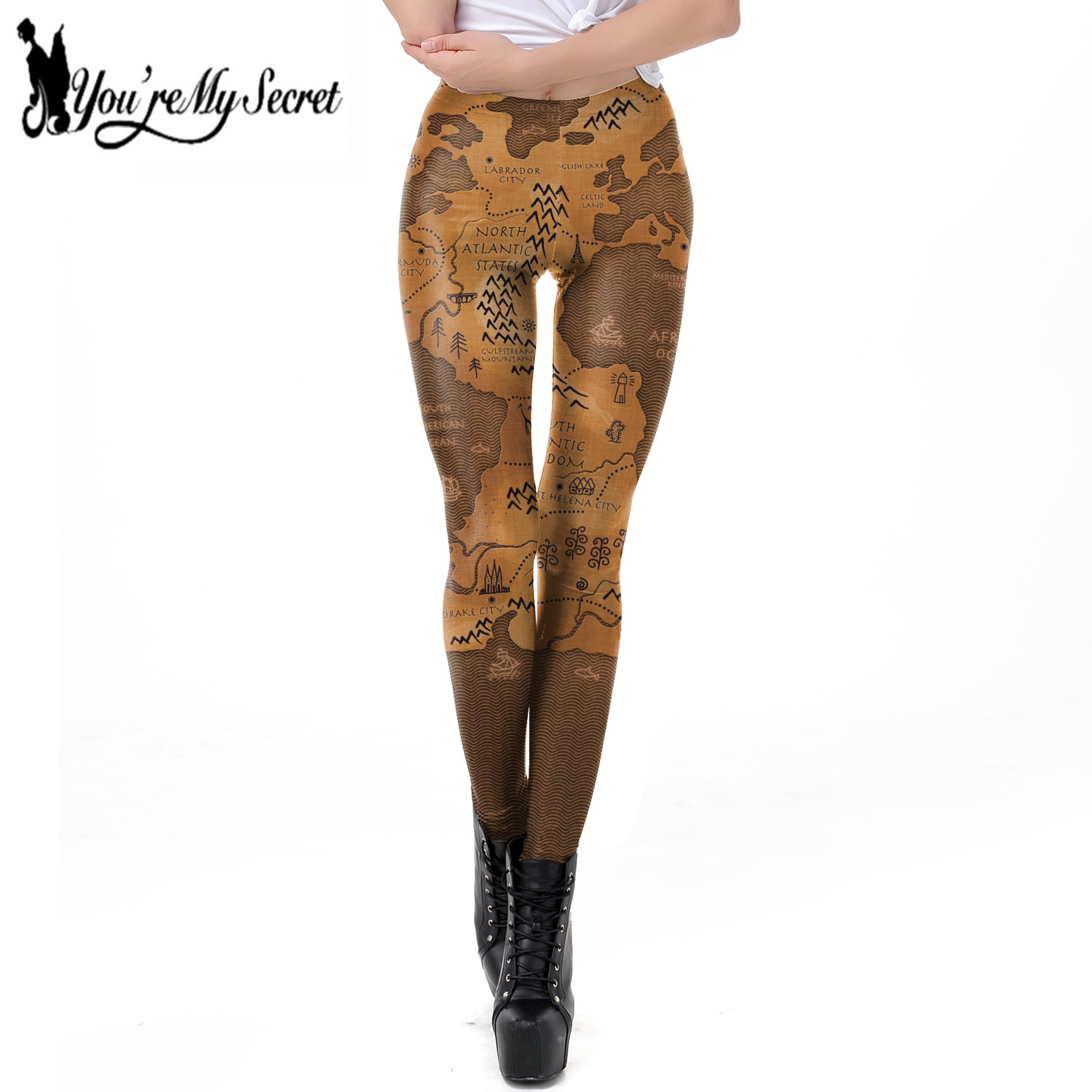 [You're My Secret] New Arrival 3D Printing Game Of Thrones Map Fitness Leggings For Women Fashion Sexy Elastic Slim Leggin Pants