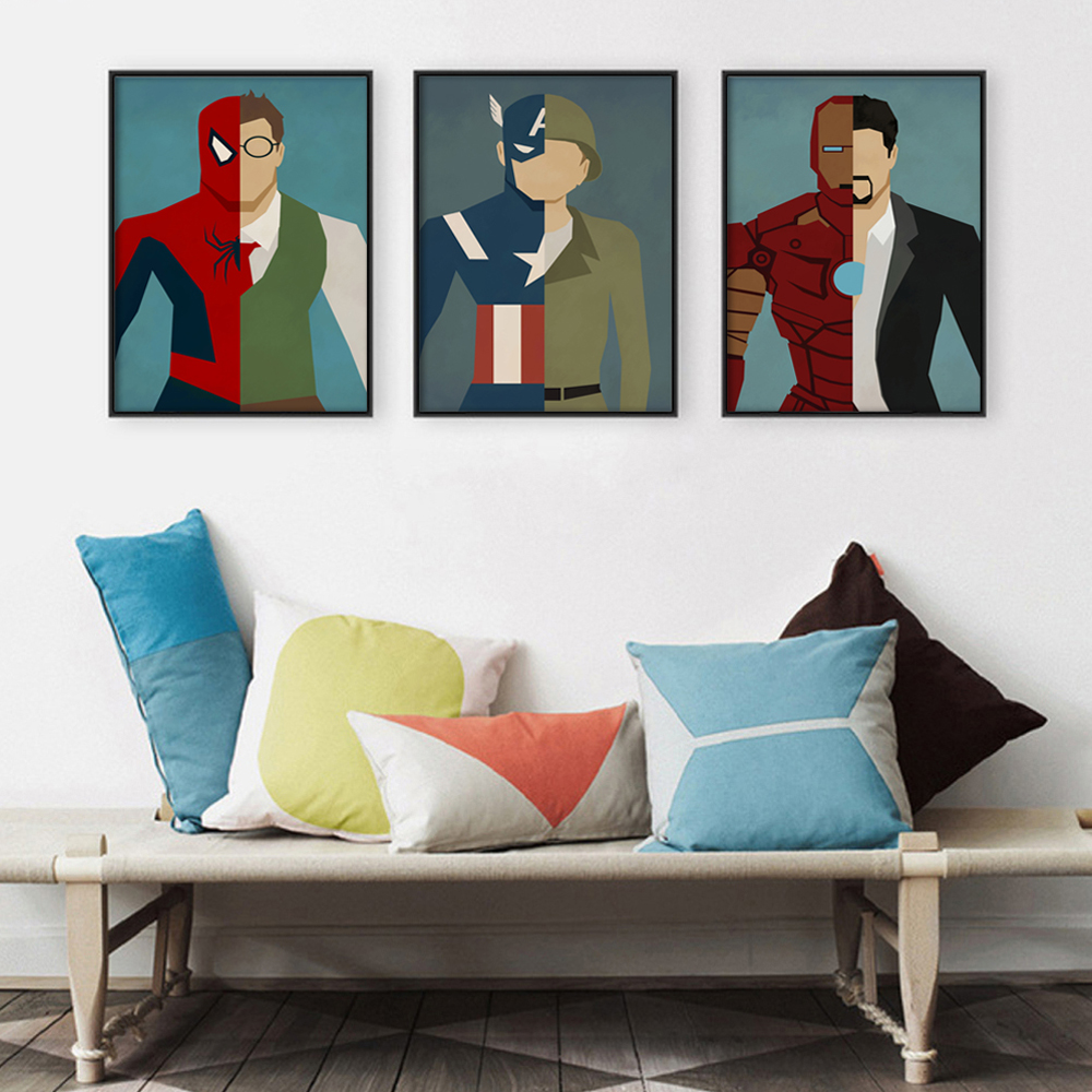Superhero Alter Ego Poster Canvas Art Print Image
