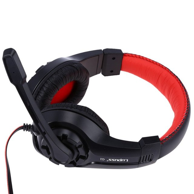 Lupus G1 Gaming Headphone 3.5mm Surround Stereo Headset Headband Headphone with Mic for PC Laptop Low Bass Wired Headset