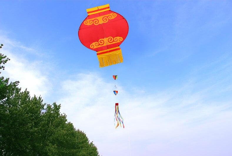 Nouveau cerf-volant lanterne rouge traditionnelle chinoise avec poignée et ligne