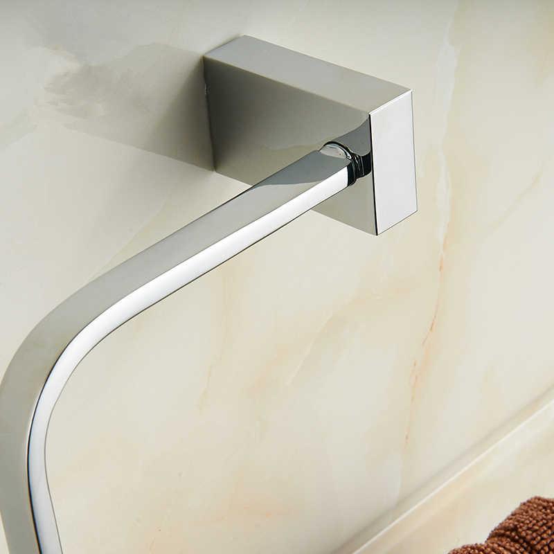 Wieszak na ręczniki miedzi akcesoria łazienkowe Okrągły wieszak na ręcznik wc uchwyt na papier uchwyt na kubek mydło ścierka do naczyń Bar wieszak ścienny chrom sanitarne apartament typu Suite