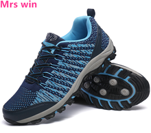 Spring new Flywire outdoor men hiking shoes sports shoes camping mesh breathable shock Non-slip breathable sneakers