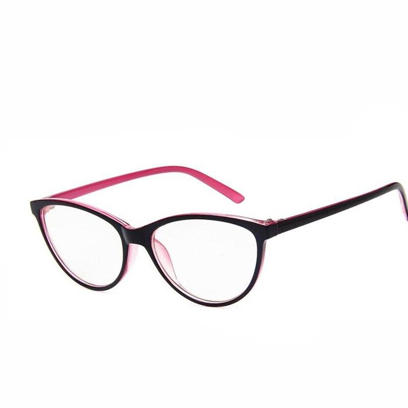 Fashion Brand Women Cat Eye Plain Glasses Women Clear Cat Eye Glasses High Quality Vintage Glasses For Women
