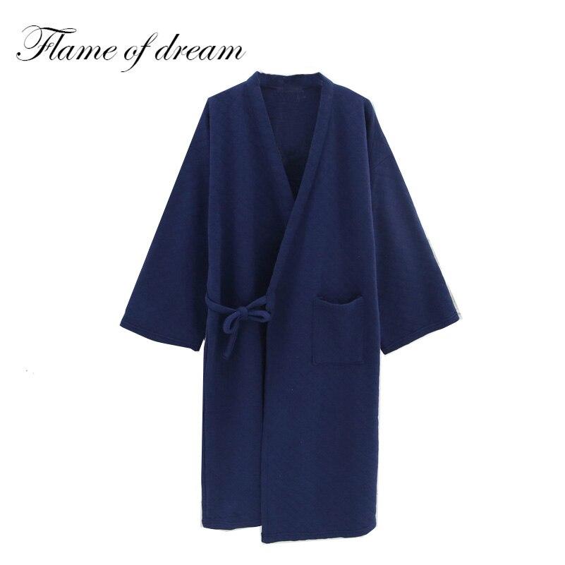 Winter Robe Sexy Kimono Hombre Robe Men Men Nightgown 8074 ...